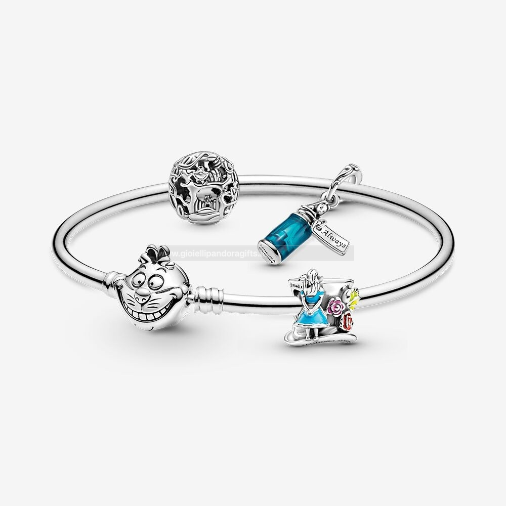 Pandora Shop Disney Alice In Wonderle Charm E Bracciali Impostata