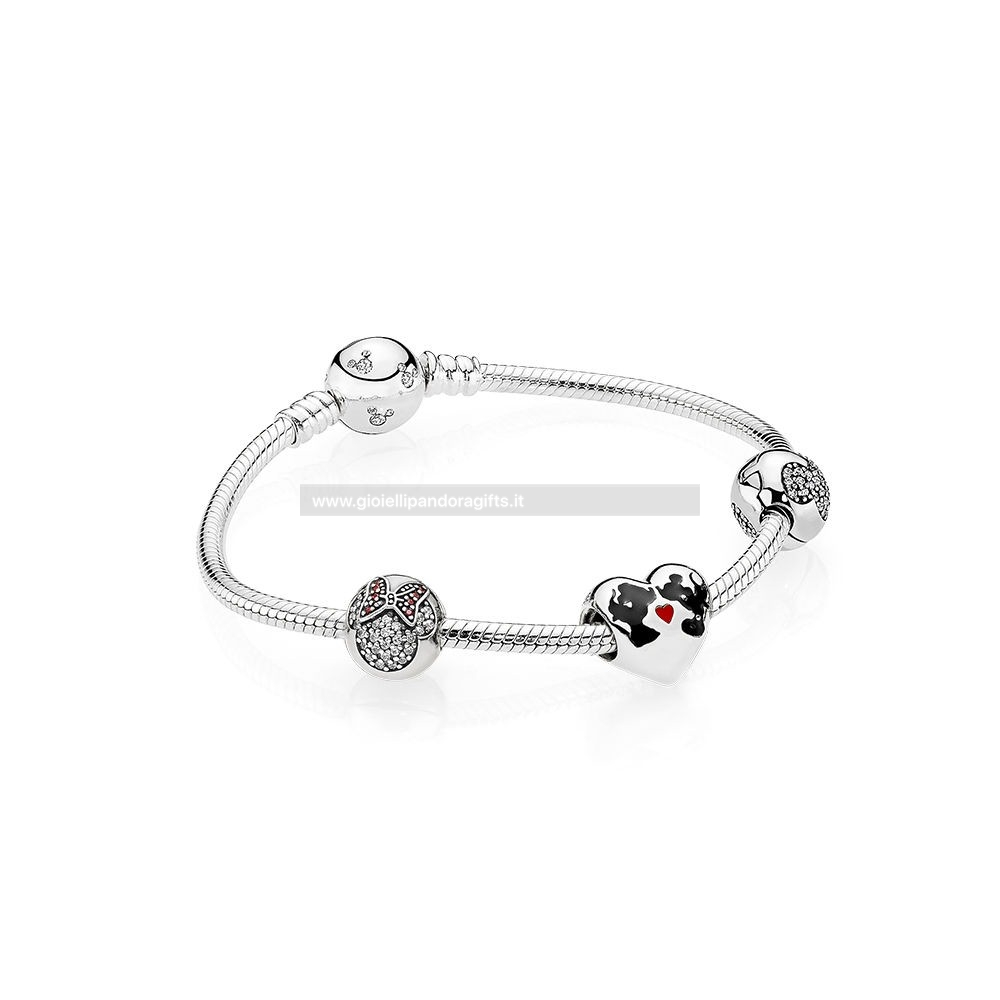 Pandora Shop Il Bacio Di Mickey Mouse E Minnie