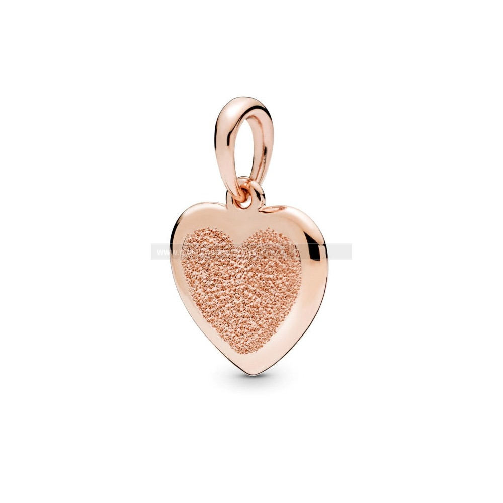 Pandora Shop Matte Brilliance Pendente A Cuore, Pandora Rose™